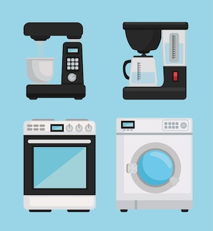 Icons of house appliances