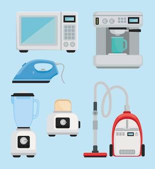 Icons house appliances