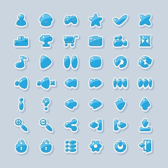 Icons for the interface design of mobile games and applications