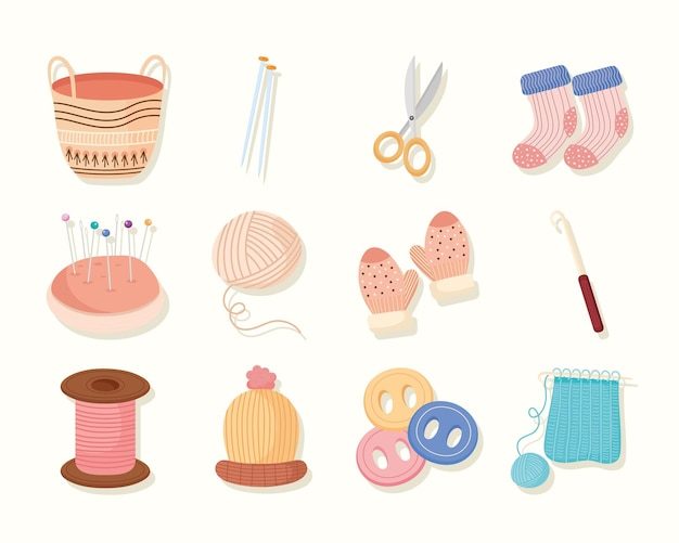 Icons for knit