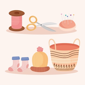 Icons for knitting