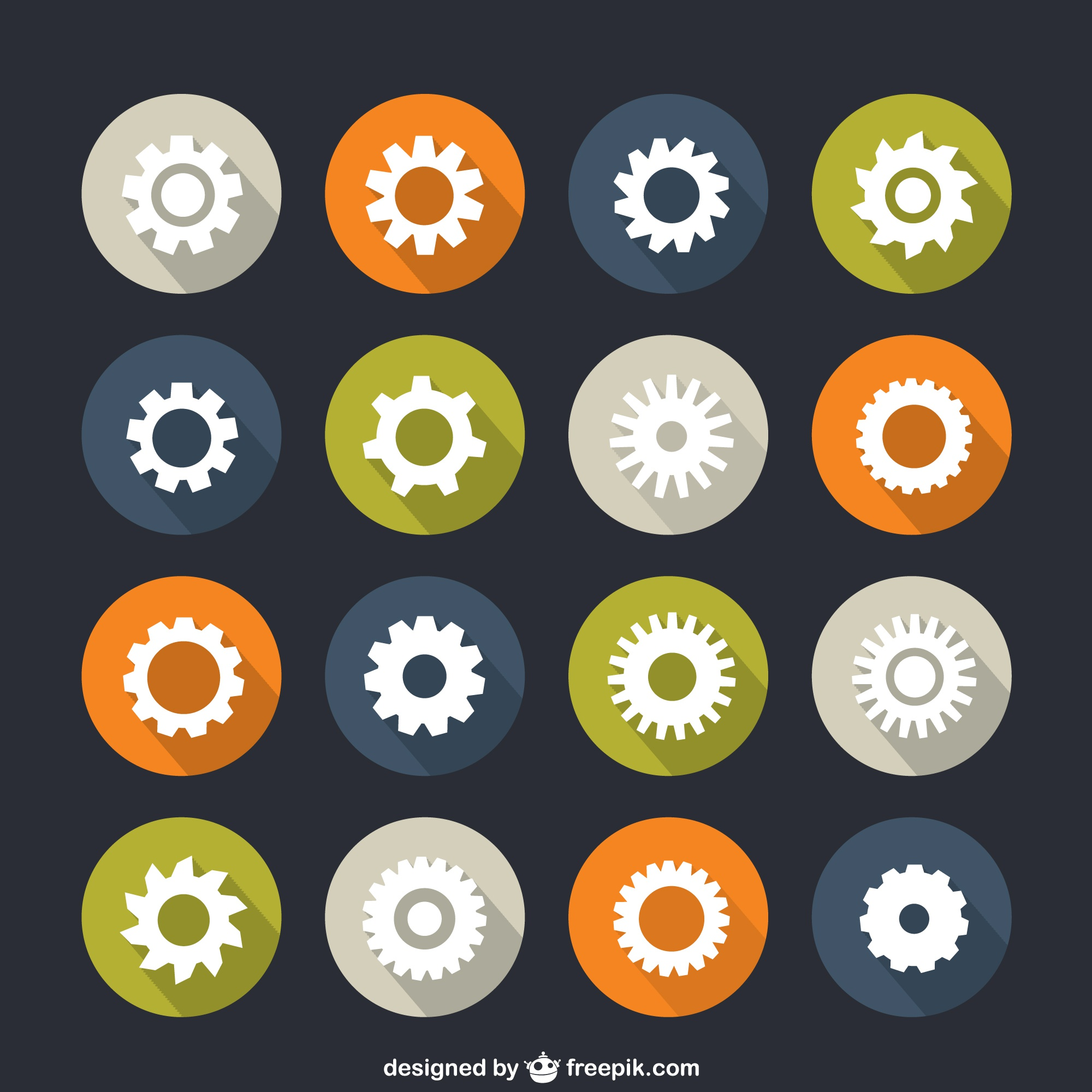 Icons of gears