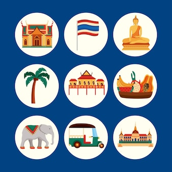 태국 전통의 아이콘