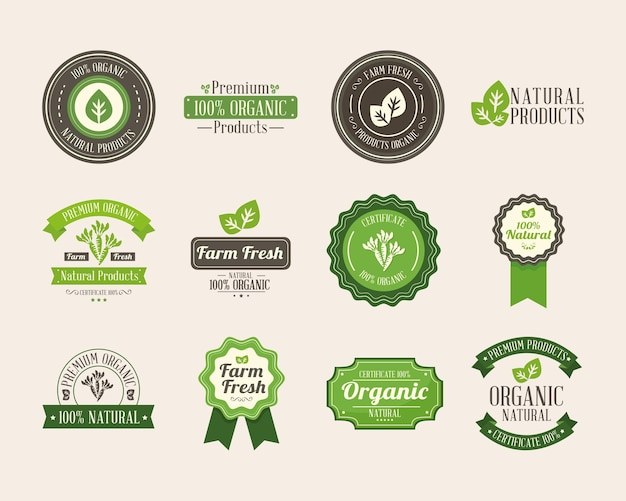 Icons for organic product label