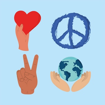 아이콘 평화와 사랑
