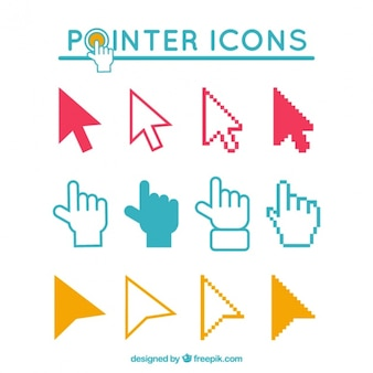 Icons pointers set