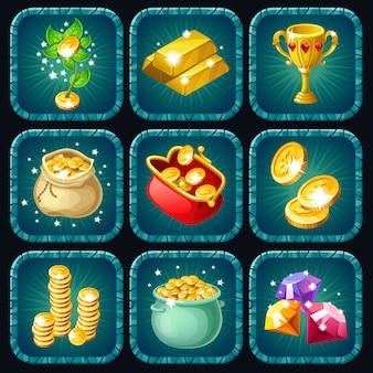Icons prizes for computer game.