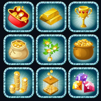 Icons prizes for computer game