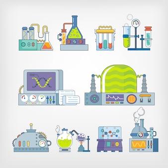 Icons of science   laboratory glassware
