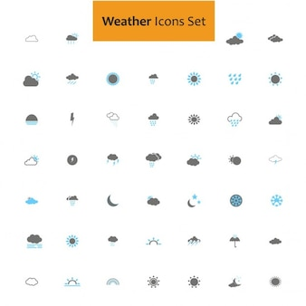 Icons set about weather