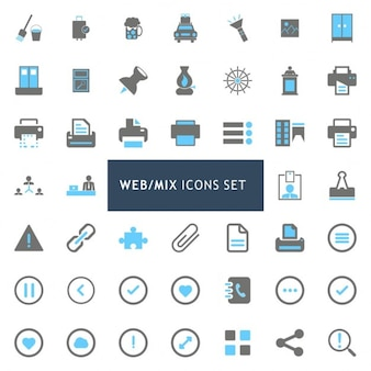 Icons set about web