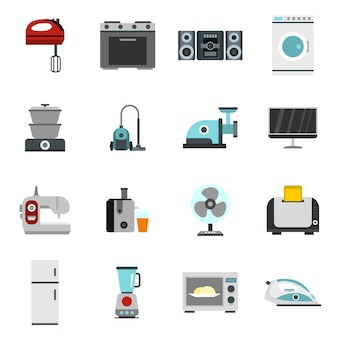 Icons set in flat style.