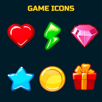 Icons set for game user interface