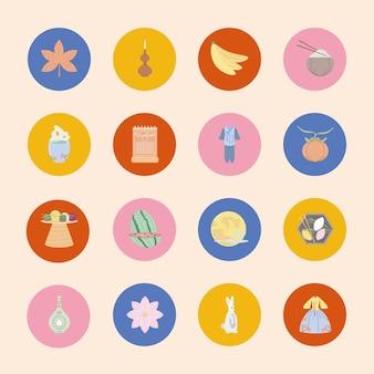 Набор иконок корейской культуры