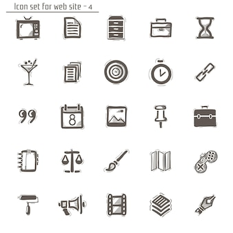 Icons sketches. isolated on white
