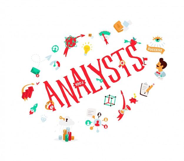 Icons on the theme of analytics.