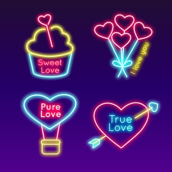 Icons for valentines day concept