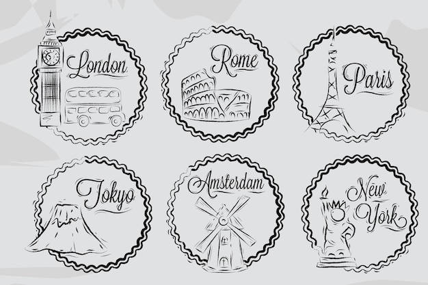 Icons world cities