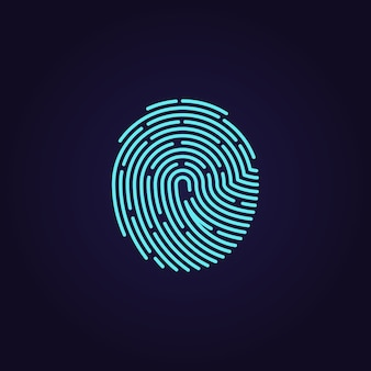 Id app fingerprint vector icon