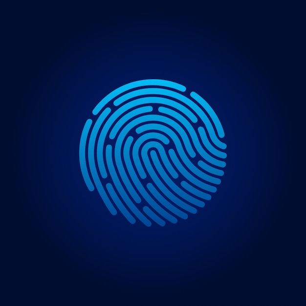 Id app icon. fingerprint. concept of personal data protection. vector stock illustration