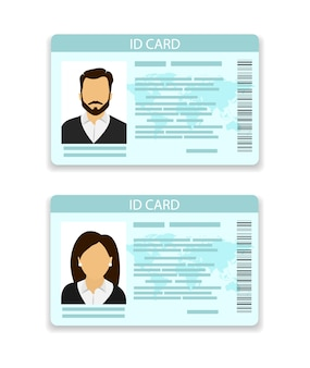 Id card. card for men and for women.