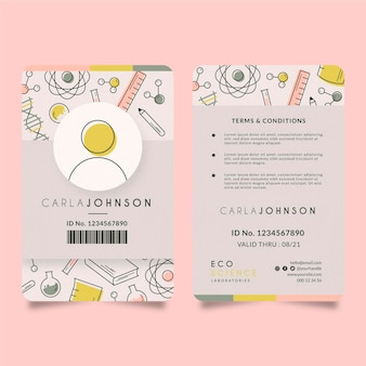 Id card editorial template
