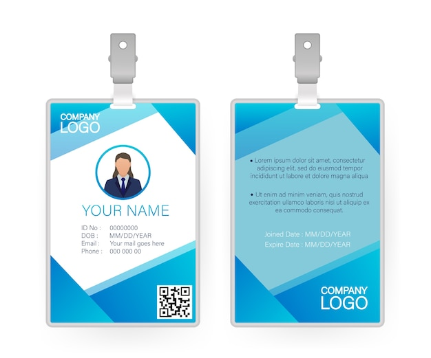 Id card, great  for any purposes.  .  .  template design.