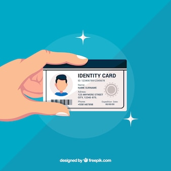 Id card illustration