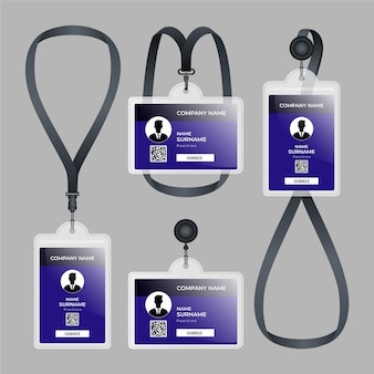 Id card stationery realistic design