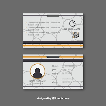 Id card template in flat style
