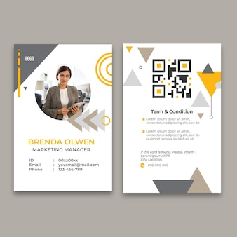 Id card template for general business