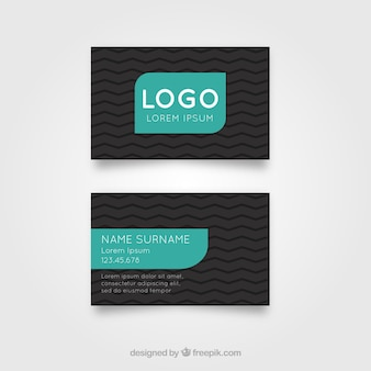 Id card template with black and green