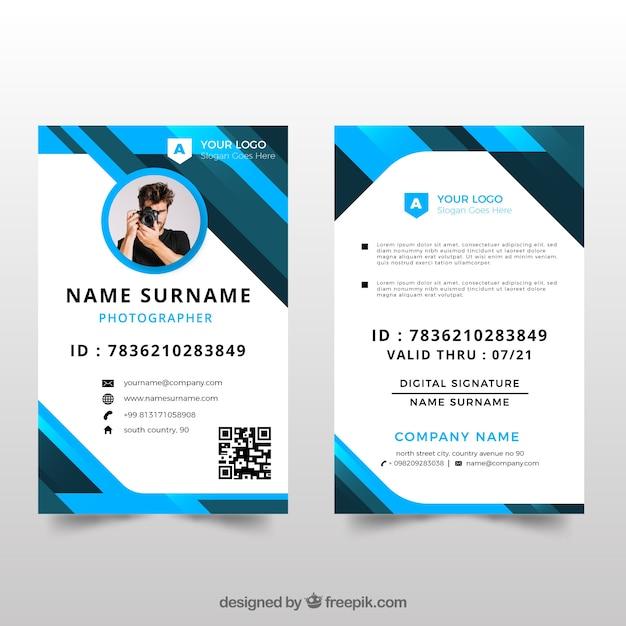 school identity card template