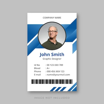 Id card template with gradient design