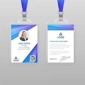 Modello di carta d'identità con foto