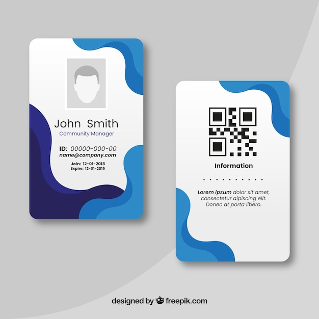 Free Id Card Template Svg Dxf Eps Png Free Svg Craft Design