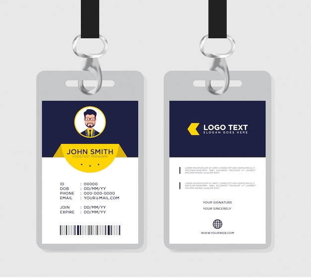 Id card template -