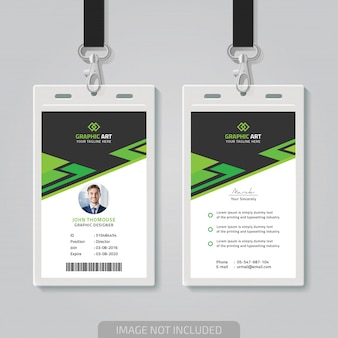 Id card themplate