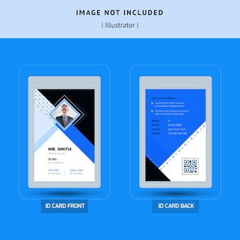 Простой id card дизайн шаблона
