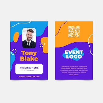 Id cards template abstract design