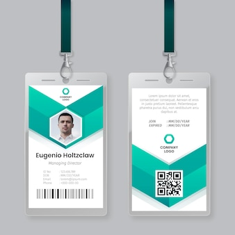 Id cards template abstract style