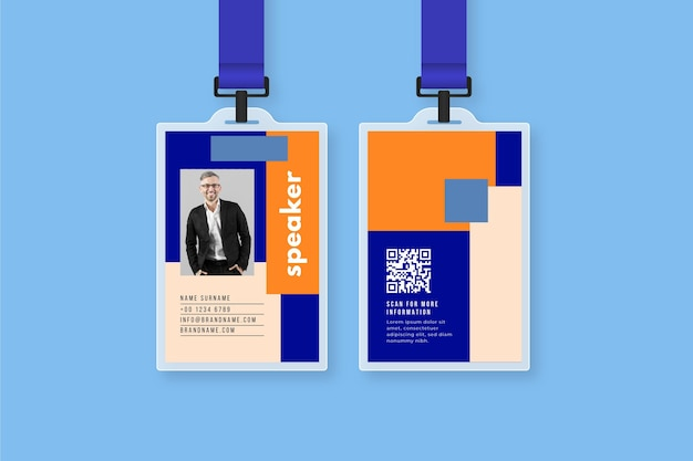 Id cards template with photo
