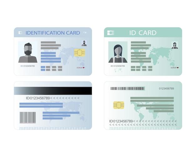 個人識別カード、idカード。
