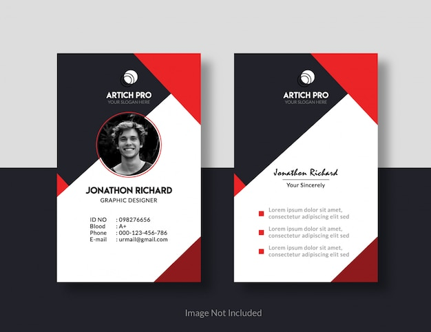 Idカードのデザイン