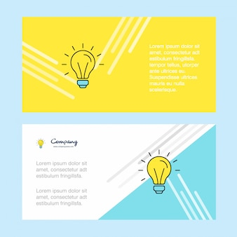 Idea abstract corporate business banner template