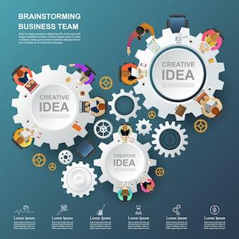 チームワークのためのアイデアとビジネスコンセプト