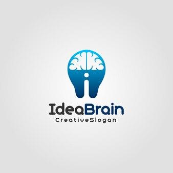 Idea brain - creative logo template