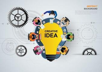 Idea concept for business teamwork.