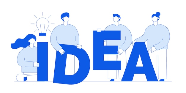 Idea concept with people