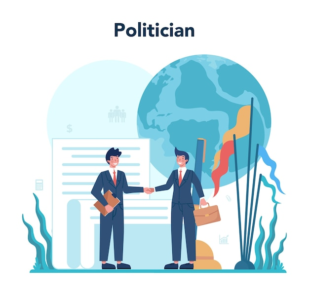 Idea of election and governement illustration
